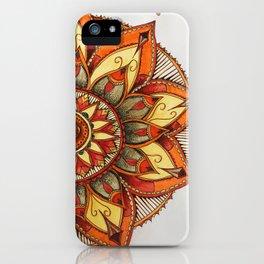 Sunset Henna Flower iPhone Case