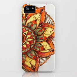 Sunset Henna Flower iPhone Case