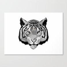 Tiger B&W Canvas Print