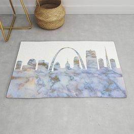 Saint Louis Missouri Skyline Rug