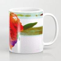 mini Mugs featuring Mini Roses by Christine Belanger