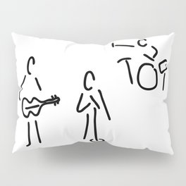 on stage with guitar and percussion Pillow Sham