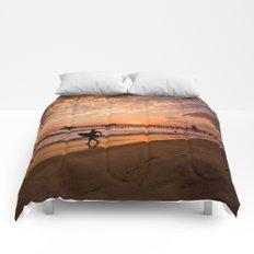 Surf City Sunsets   9/10/15   Huntington Beach California  Comforters
