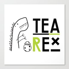 Tea-Rex Canvas Print