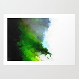 Green Dot Paint Art Print
