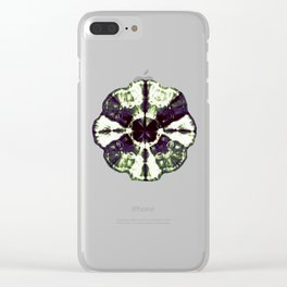 Eggplant Bloom Clear iPhone Case