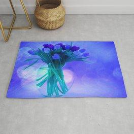 A Blue Bloom for Spring Rug