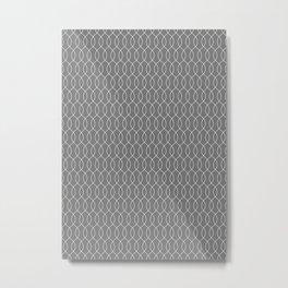 geometric b.w_06.waves Metal Print