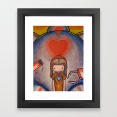 The Robot Who Stole My Heart Framed Art Print