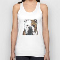 english bulldog Tank Tops featuring English Bulldog  by ali_grace_gal