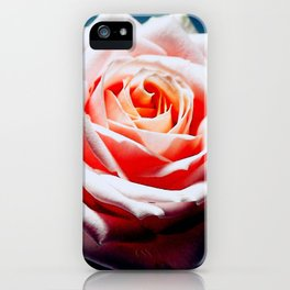 Adorable White and Pink Rose iPhone Case