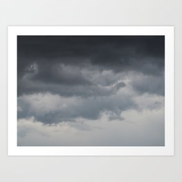 Ombré Cloudy Day Art Print