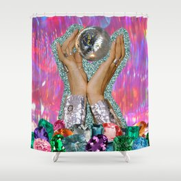 Power of Disco Shower Curtain