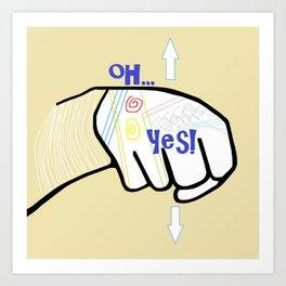 ASL Oh YES! Art Print