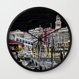 Rialto, Venezia Wall Clock