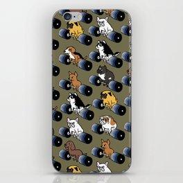 5 plates deadlift Puppies iPhone Skin