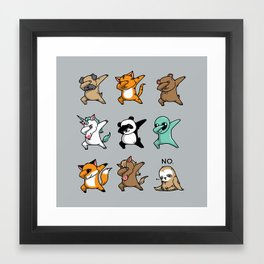 Dabbing Party Framed Art Print