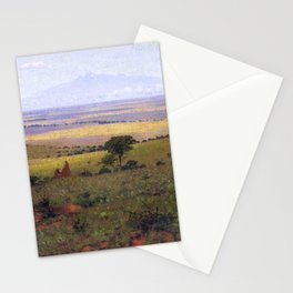 Athi Plains, Mount Kenya, Kenya, Africa Landscape by William R. Leigh Stationery Cards