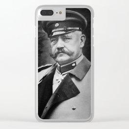Paul von Hindenburg - President of Weimar Republic Clear iPhone Case