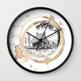 Coffee Stain Cajun Home-Louisiana Series Wall Clock