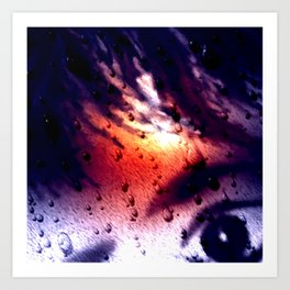 Rain...not a nice day. Art Print