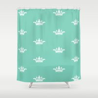princess Shower Curtains featuring Princess by Louise Machado