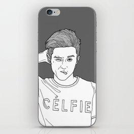 Line Illustration #celfie iPhone Skin