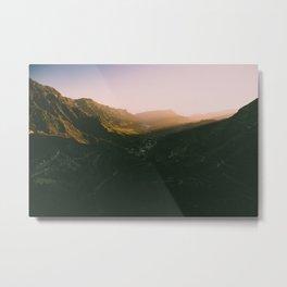 Sunset overt the mountains Metal Print