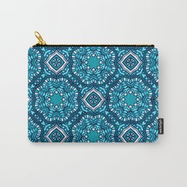 Moroccan Tile Pattern - Turquoise Carry-All Pouch