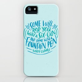 Woody Guthrie on How People Rob You iPhone Case
