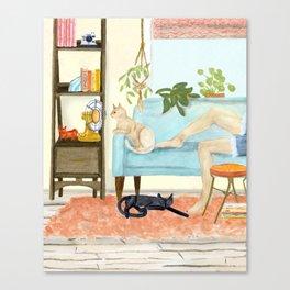 Cat Days of Summer Canvas Print