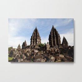 Prambanan Temples Metal Print