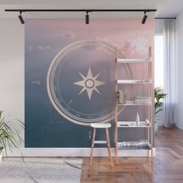 The Edge of Tomorrow - Rosegold Compass Wall Mural