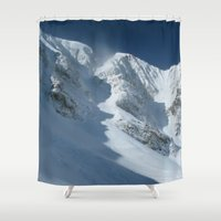 montana Shower Curtains featuring Montana Ridge Line by Bizzack Photography