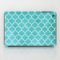 morocco iPad Cases featuring MOROCCO - AQUA by pike design
