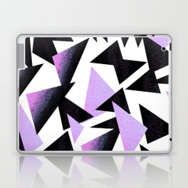 purple triangles Laptop & iPad Skin