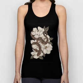Snake and Magnolias Unisex Tank Top