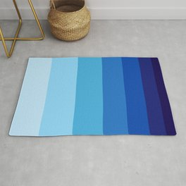 Colorful Blue Gradient Geometric Pattern Rug