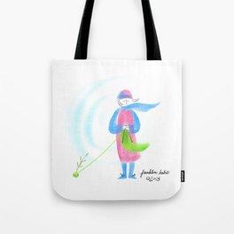 Spring Knitter Tote Bag
