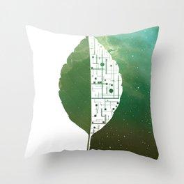 BIONIC LEAF Throw Pillow