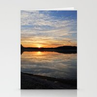 minnesota Stationery Cards featuring Minnesota Sunrise by Heartland Photography By SJW