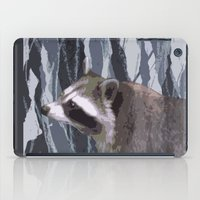 racoon iPad Cases featuring little racoon by ruth ball illustration
