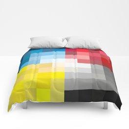 CMYK Pixel Comforters