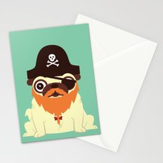 Pug in a crew Stationery Cards