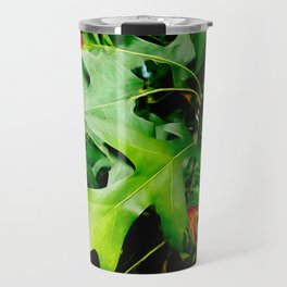 Maple Leaves Changing Color In Autumn Travel Mug