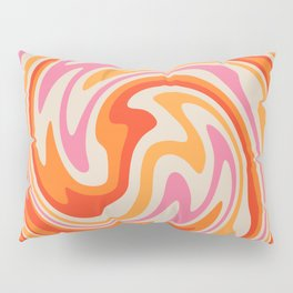 70s Retro Swirl Color Abstract Pillow Sham