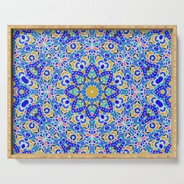 Arabesque kaleidoscopic Mosaic G512 Serving Tray