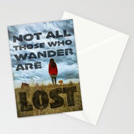 Not Lost - painting by Brian Vegas Stationery Cards