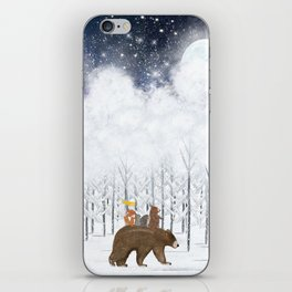 the white forest iPhone Skin