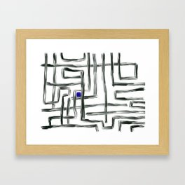 Small Square and Blue Framed Art Print
